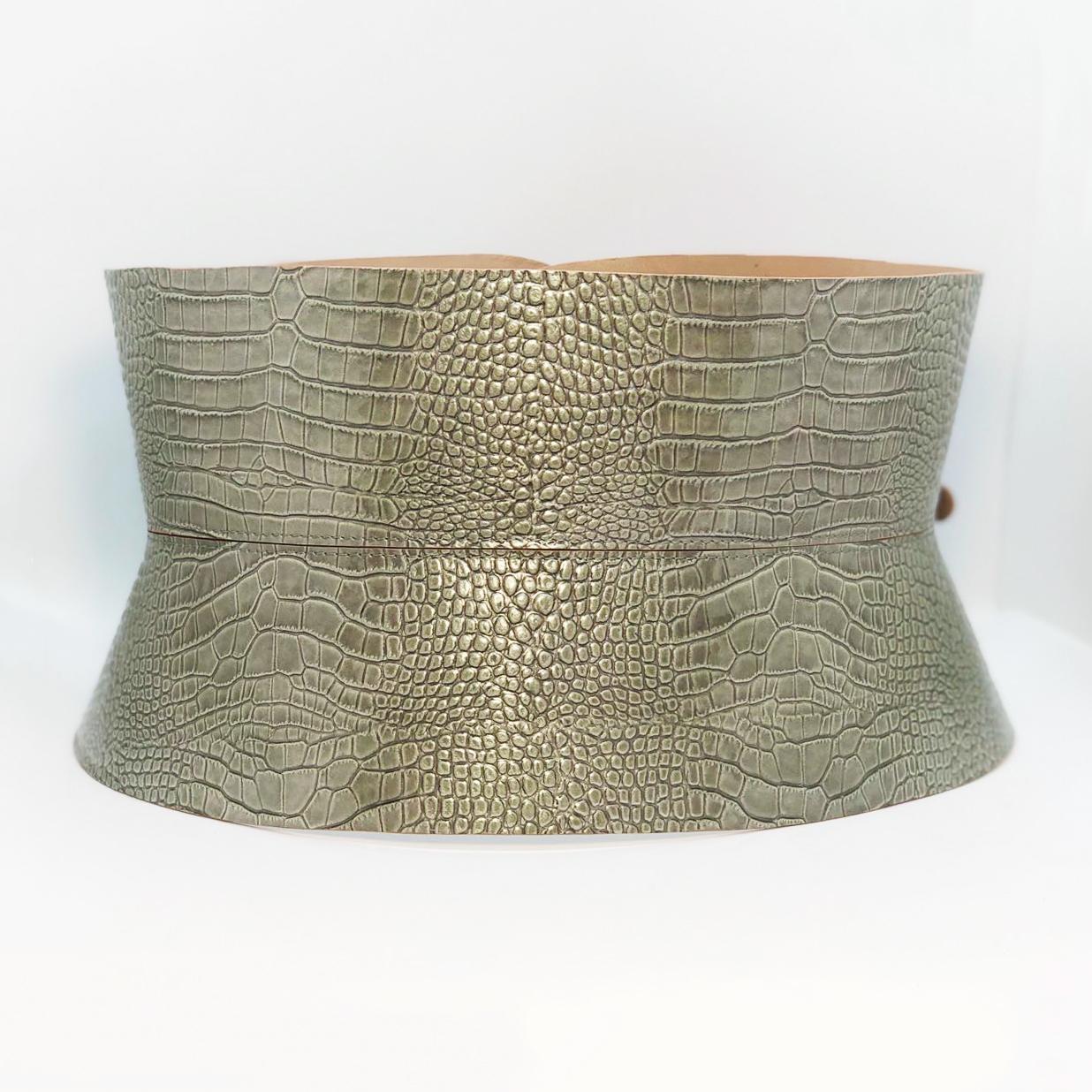Centura Corset Clepsidra - Khaki Croco 1
