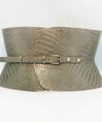 Centura Corset Clepsidra - Khaki Croco