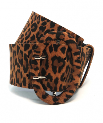 Urban Wide Belt - Animal Print - Round buckle 1